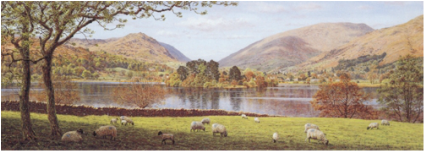 Keith Melling Open Edition Print Grasmere From Dale End