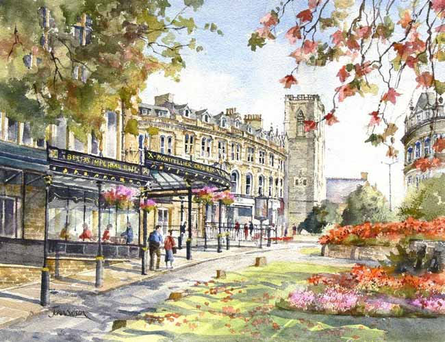 John Sibson Limited Edition Print Bettys and Montpellier Harrogate