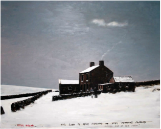 Peter Brook Limited Edition Print It's Good to have Friends in High Places