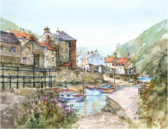 John Sibson Limited Edition Print Calm At Staithes