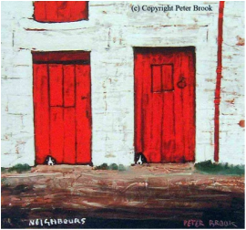 Peter Brook Open Edition Print Neighbours