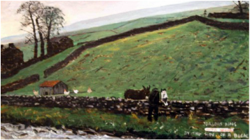 Peter Brook Limited Edition Print Jealous Hens
