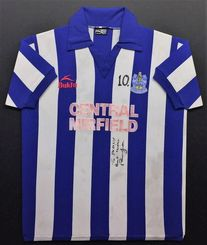 Huddersfield Town​ players shirt of Paul Jones from the 80's framed