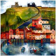 Kate Lycett Limited Edition Print 199 Steps Whitby Yorkshire