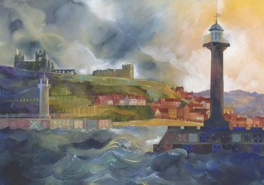 Kate Lycett Limited Edition Print ​Whitby Breakwater