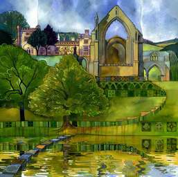 Kate Lycett Limited Edition Print Stepping Stones - Bolton Abby
